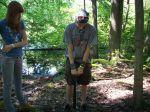 Digging a soil pit.